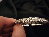 白族传统手工纯银纯手工绣球花手镯