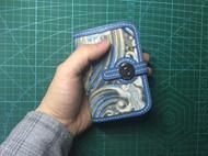 手工皮具布衣镶嵌小钱包卡包