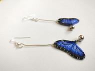 藍閃蝶耳墜