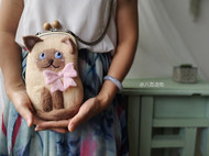 羊毛毡手机包——暹罗猫