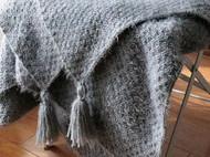 超温暖北欧风流苏毯子