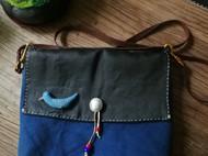 蓝染帆布药包