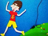 粘土画:叛逆的男孩