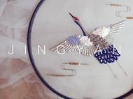 法式钩针刺绣--鹤扇