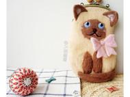 乖乖暹罗猫手机包/手工材料包