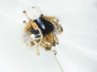 法式刺绣胸针—小蜜蜂