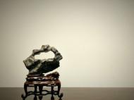 『锁云』文房案头石奇石禅意摆件清供笔搁原石孤品