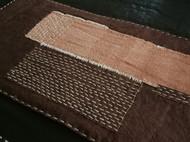 柿染茶席 刺子绣  茶垫 褴褛 矿物染 拼布茶席