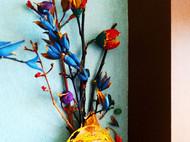垃圾再利用:烂树枝、干果壳,涂涂抹抹就成了一副漂亮的装饰画