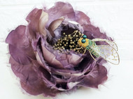 法式立体刺绣昆虫-蝉