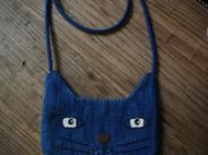手工蓝染猫咪包