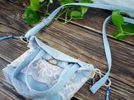 四季织歌原创手作古风汉服棉麻斜挎手提两用包包