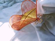 三晒定制 原创设计手工绕线黄铜紫铜置物盘