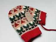 儿童圣诞风提花手套