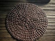 手工柿染茶垫 壶垫 杯垫 柿染布