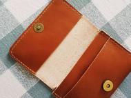 浅棕色植鞣皮卡包名片夹