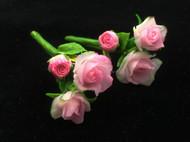 冷瓷玫瑰耳钉