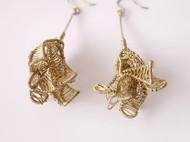 【待放的花蕾】黄铜手工绕线耳环