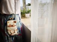 羊毛毡手机包——牛奶花斑猫