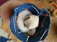 刺子绣蓝染柏香小葫芦