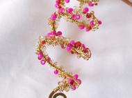 三晒定制 原创设计手工绕线黄铜琉璃螺旋项链