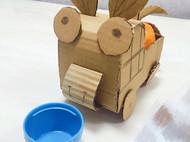 快递盒子做动物小车