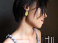 手工皮质耳饰