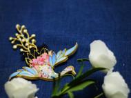 中国盘扣创新-盘扣作品少女鹤
