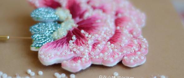 【原创花扣】从中国画到花扣胸针