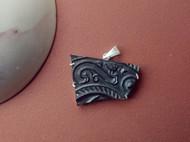 汉代青铜四乳四虺镜残片吊坠