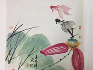手工绘制国画花鸟