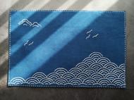 飞鸟凉| 刺子绣蓝土布茶席 手工原创