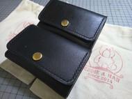 意大利植鞣革黑色卡包