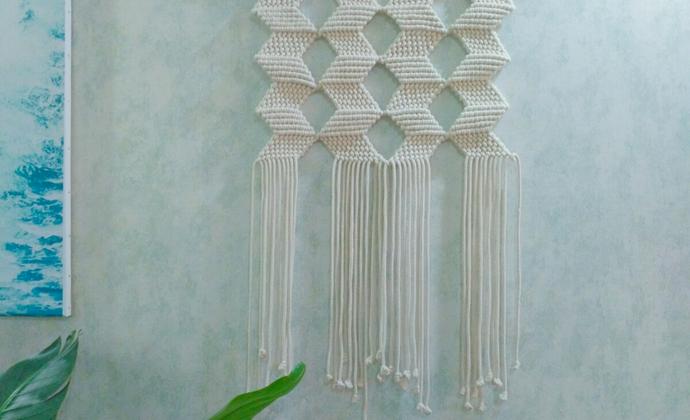MaCrame编织挂毯~几何主义