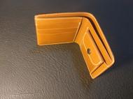 聚岩革物手工植鞣革短夹