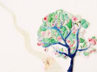 原创花扣_一棵开花的树