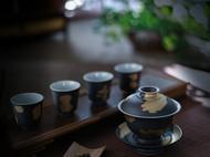 戗金银茶器