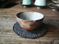 手工 茶垫 杯垫 刺子绣 柿染 茶席