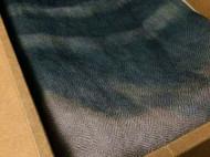 羊毛钻石纹纱巾 五倍子靛蓝复染