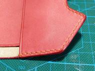 手染粉色卡包