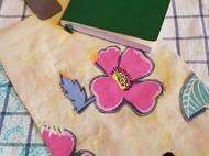 Ecoprint+贴布缝的书套