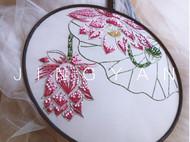 法式钩针刺绣--荷扇