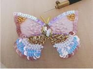法式钩针刺绣——粉蝶
