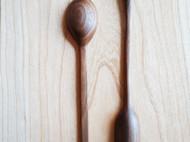 黑胡桃 樱桃木 手作木勺 圆勺 长柄勺