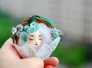 原创手作独家原创diy粘土娃娃胸针挂件装饰