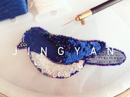 法式钩针刺绣——鸟