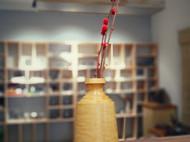 手工车制的小叶黄杨花瓶