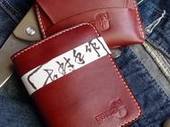 手工染色咖啡钱包,卡包,