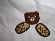 编织熊熊发夹