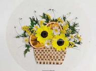 花朵与食物的碰撞 3 | 压花画